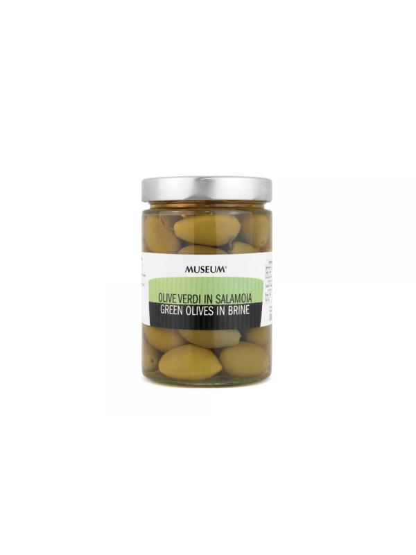 Museum store grønne oliven i saltlage