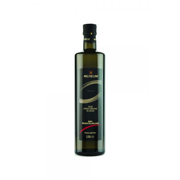 Museum ekstra jomfru olivenolie rødt label